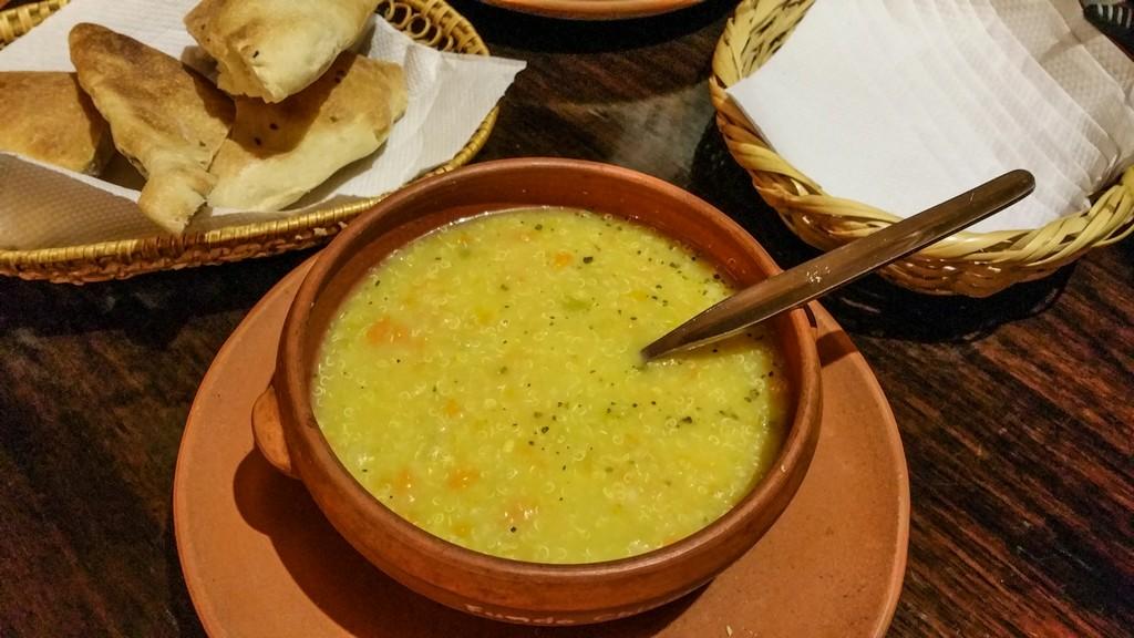 come organizzare un viaggio in Perù Sopa de quinoa a La Casa del Corregidor di Puno