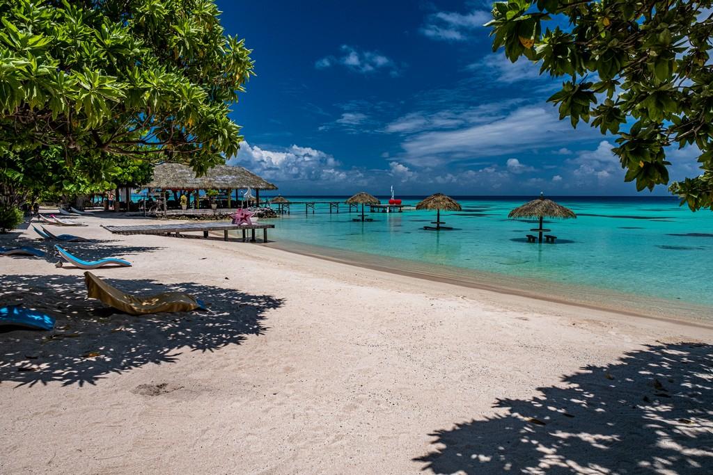 Maldive o Polinesia Francese spiaggia a Fakarava