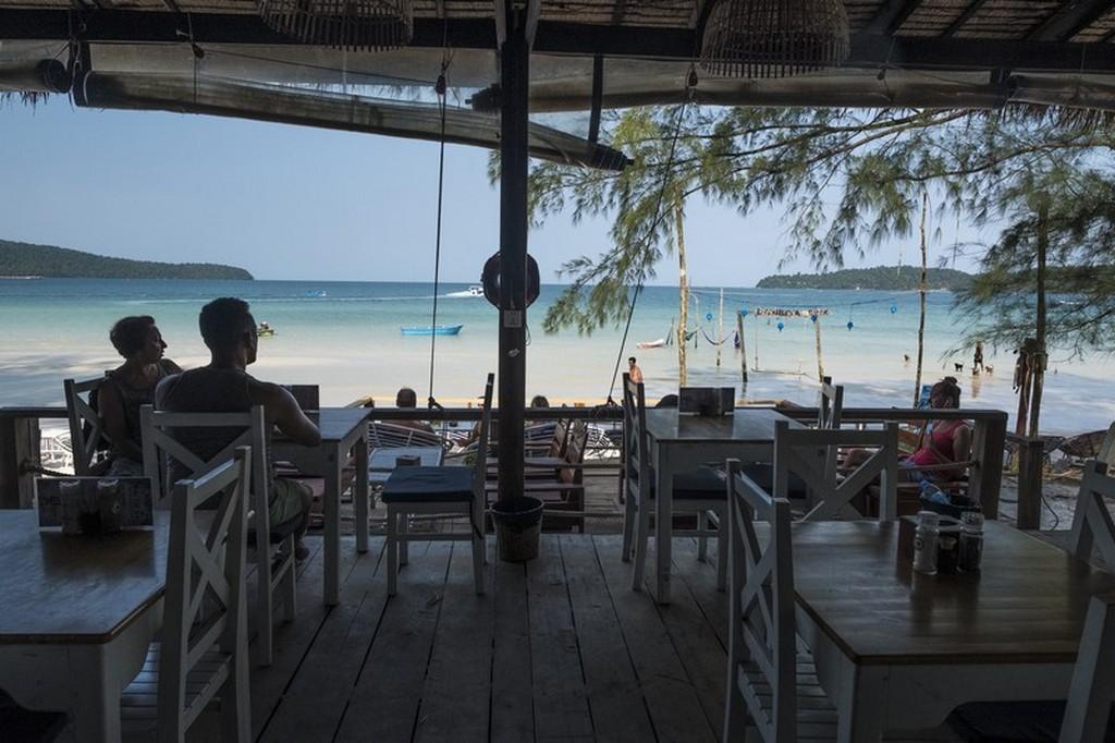 Dove dormire a Koh Rong Samloem vista del mare dal ristorante