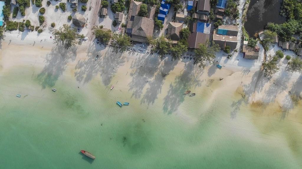 spiaggia vista aerea