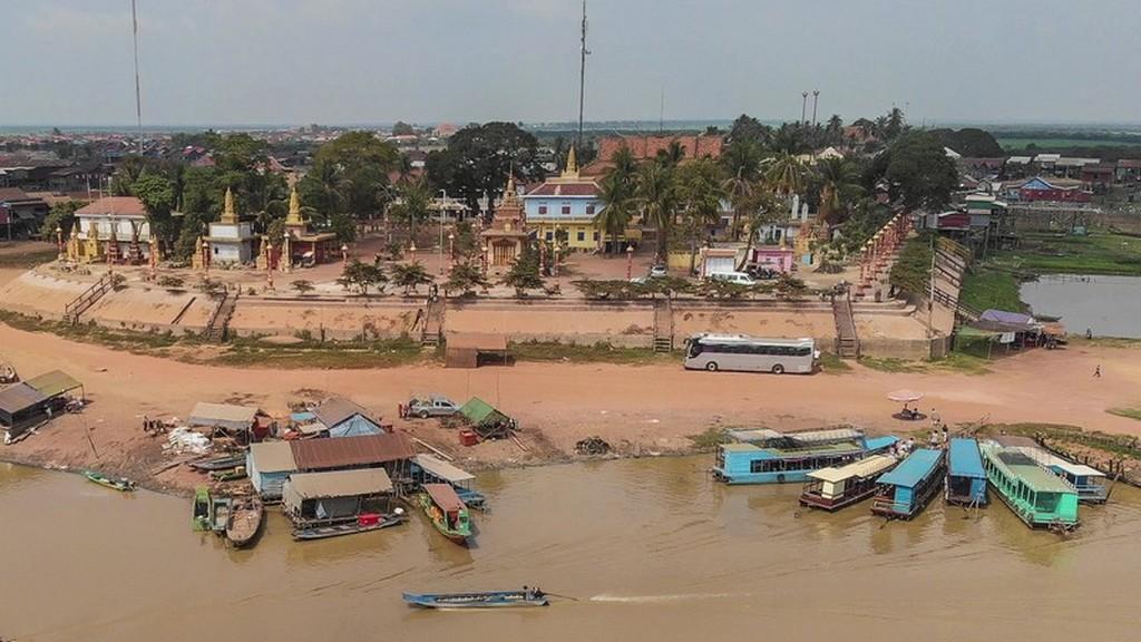 villaggi sull'acqua visti dall'alto