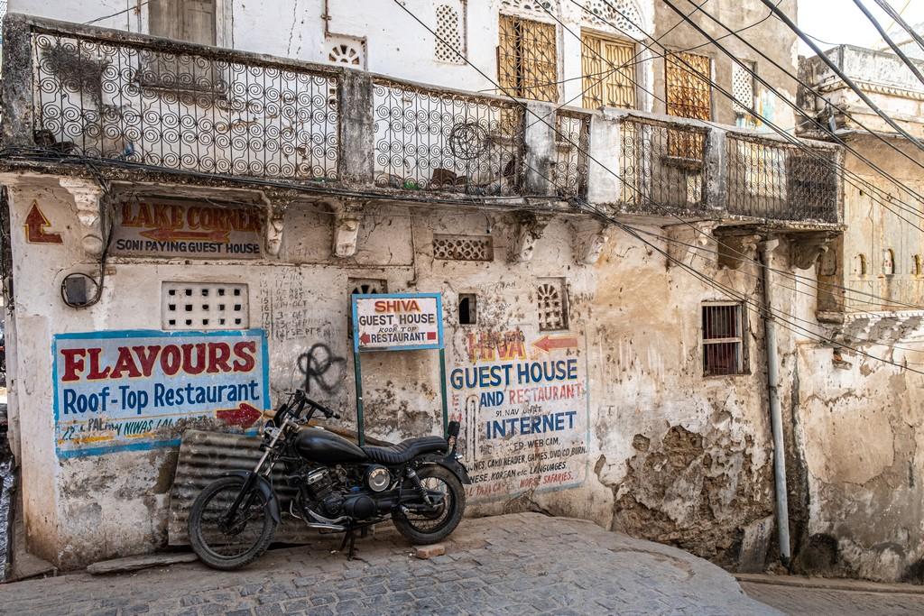 Impressioni a caldo in India strada nella città vecchia
