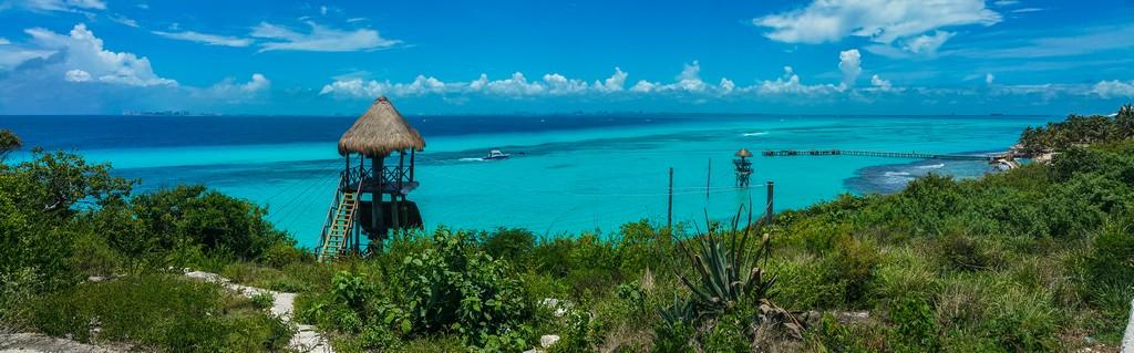 Guida a Isla Mujeres vista del mare dall'alto