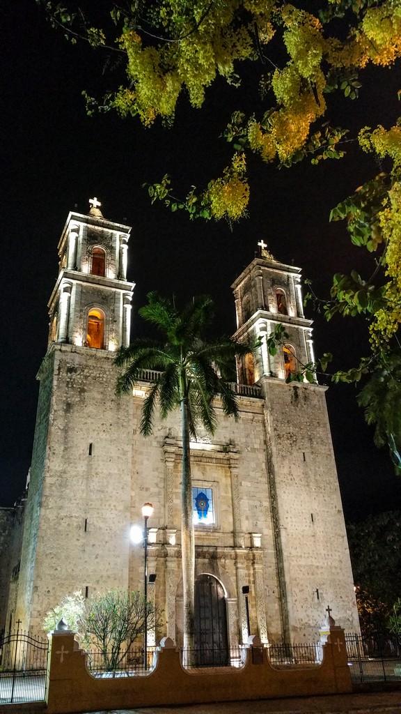 Cosa vedere a Valladolid facciata cattedrale di notte