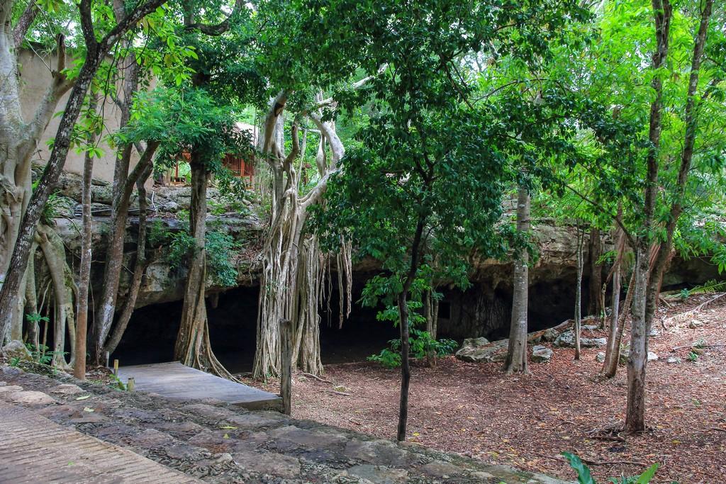 Cosa vedere a Valladolid Vista dell'esterno del cenote