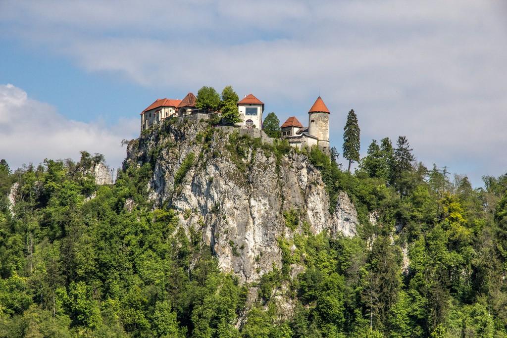 Visita al lago di Bled castello sulla rocca