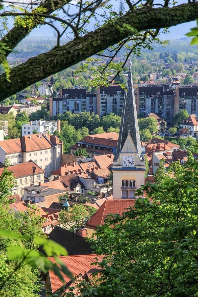 cosa vedere a Lubiana vista della città dall'alto