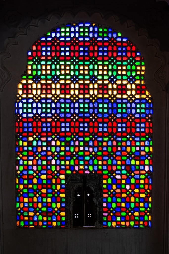 vetrata multicolore