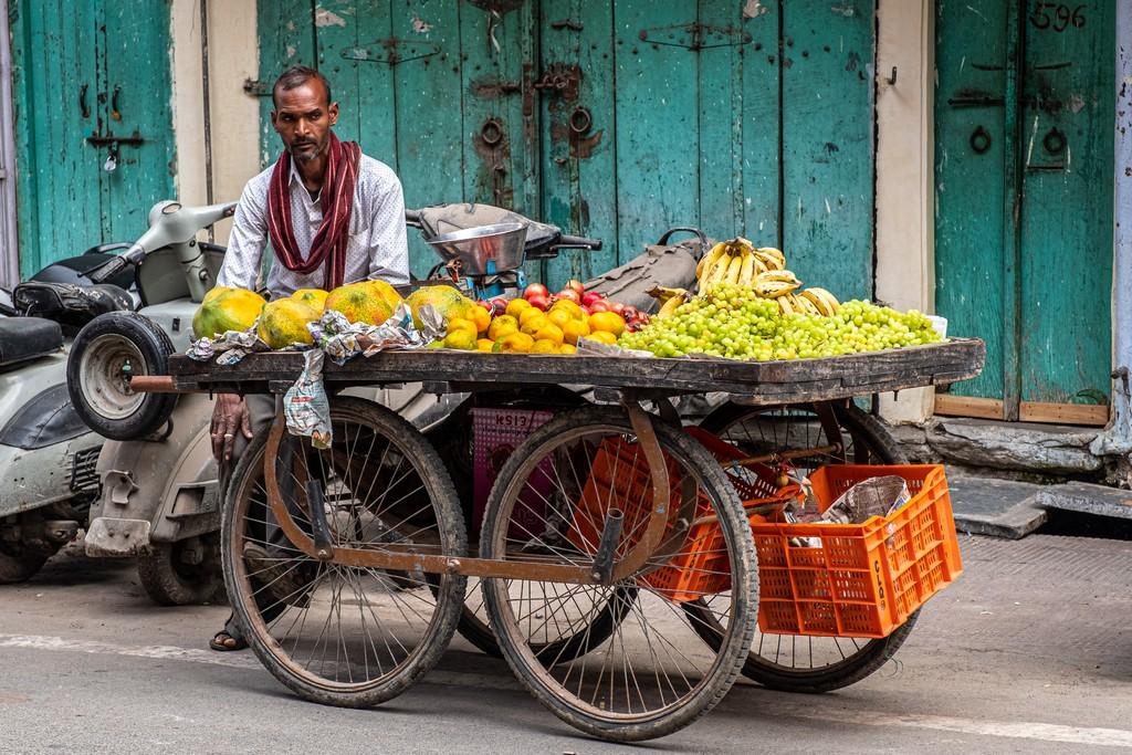 carretto di frutta