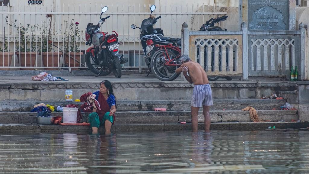 lavaggio a gangaur ghat