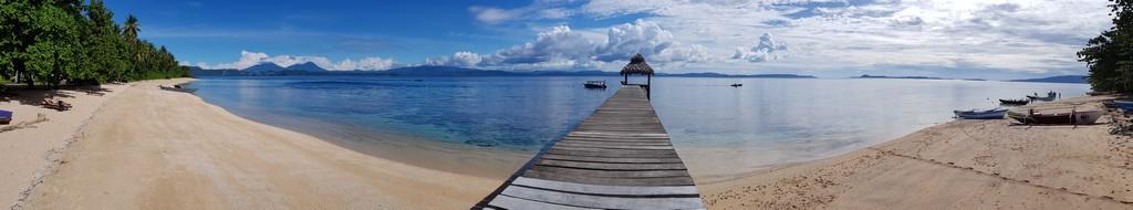 panoramica della spiaggia di Bangka