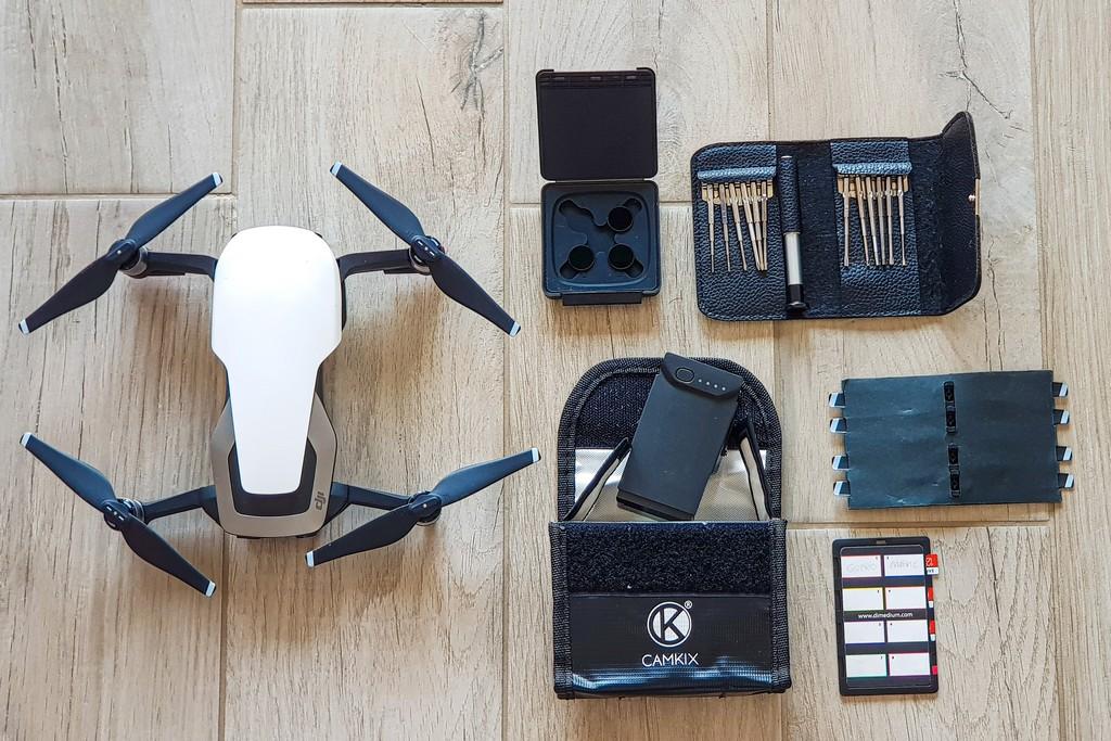 scegliere l'attrezzatura fotografica da viaggio kit per drone