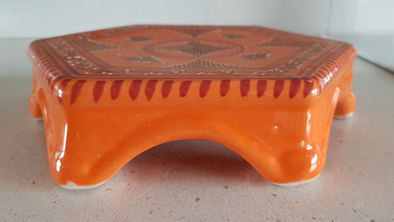 sottopentola arancione