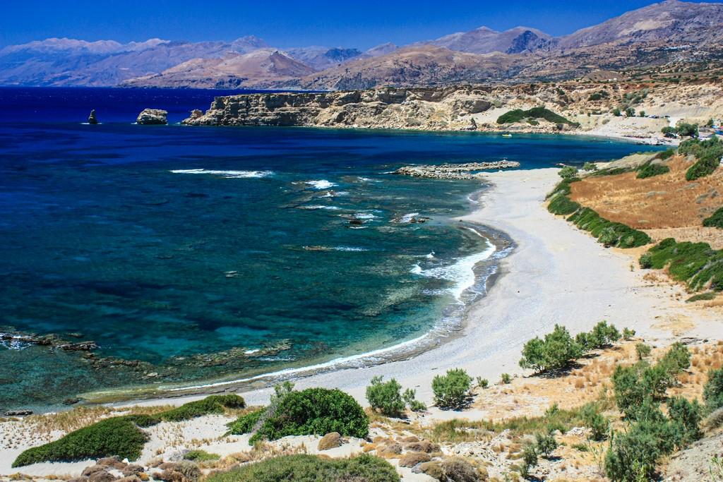 litorale visto dall'alto Le migliori spiagge di Creta