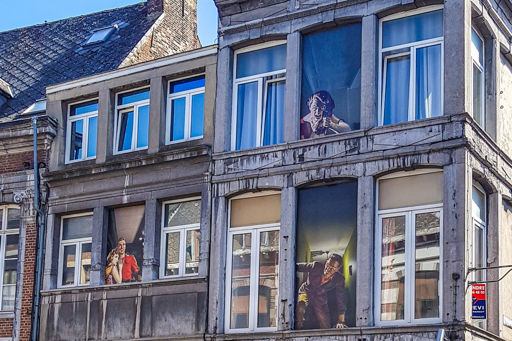 murales in finestre