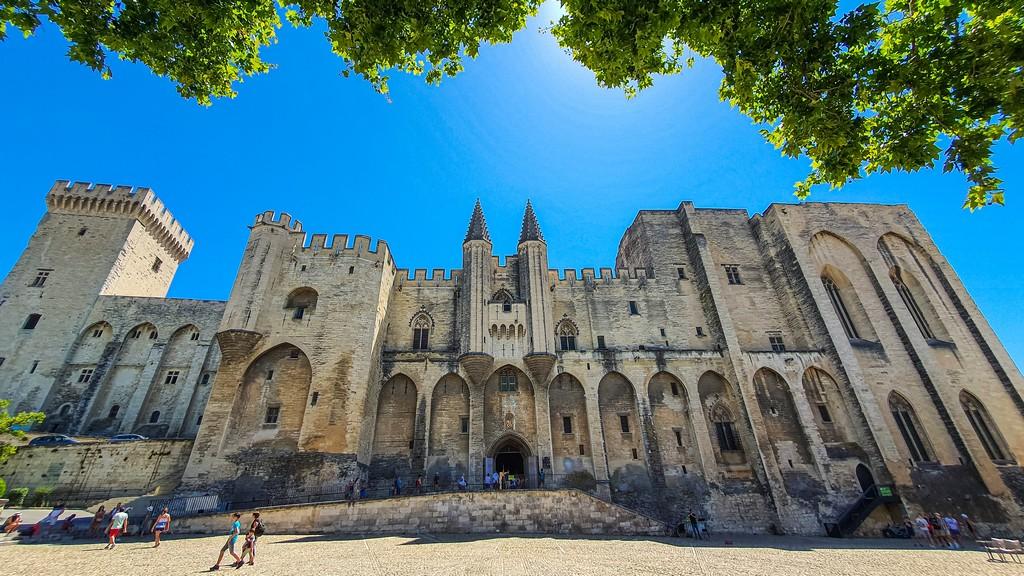 Una giornata ad Avignone vista del palazzo panoramica