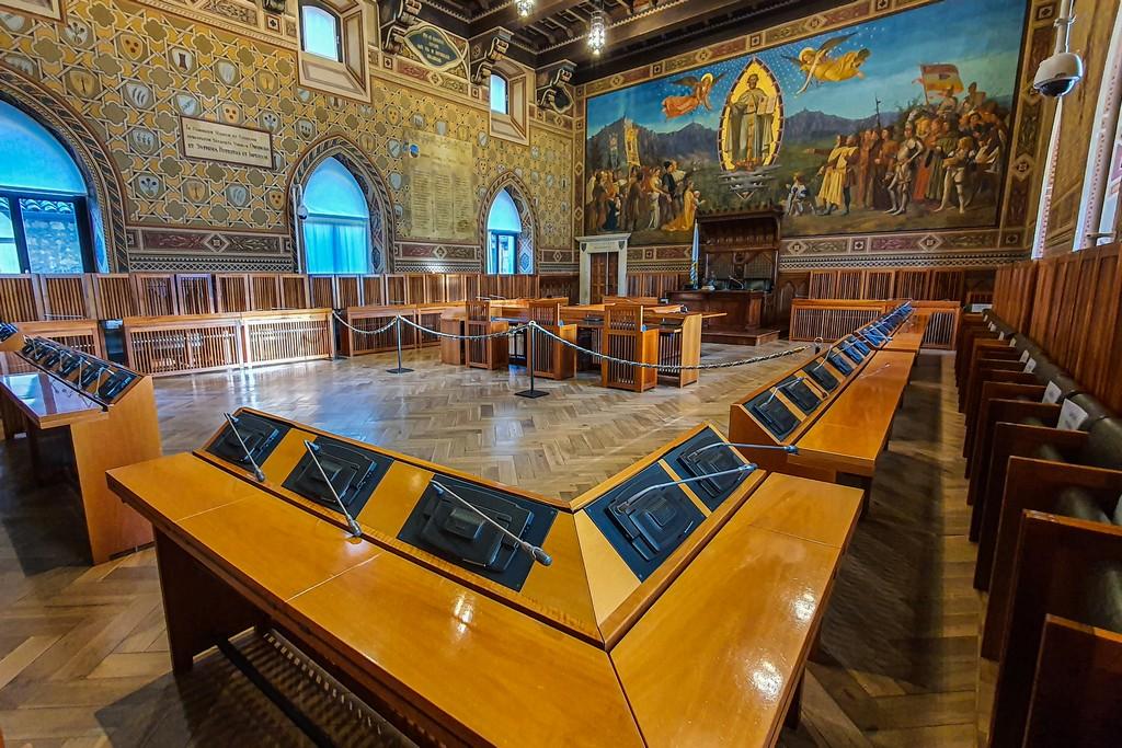 interno del parlamento