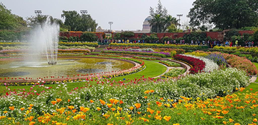 Visitare i Mughal Gardens giardino circolare