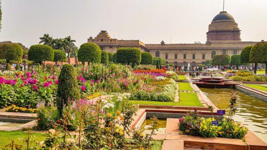 visitare i mughal gardens