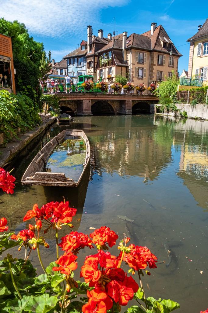 Una giornata a Colmar canale con barca
