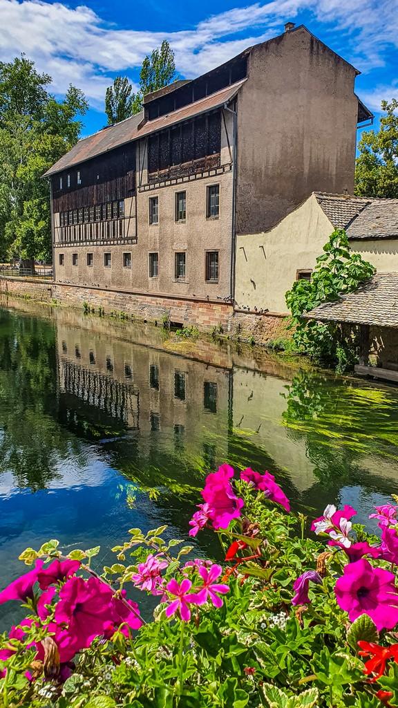 casa sul canale con fiori
