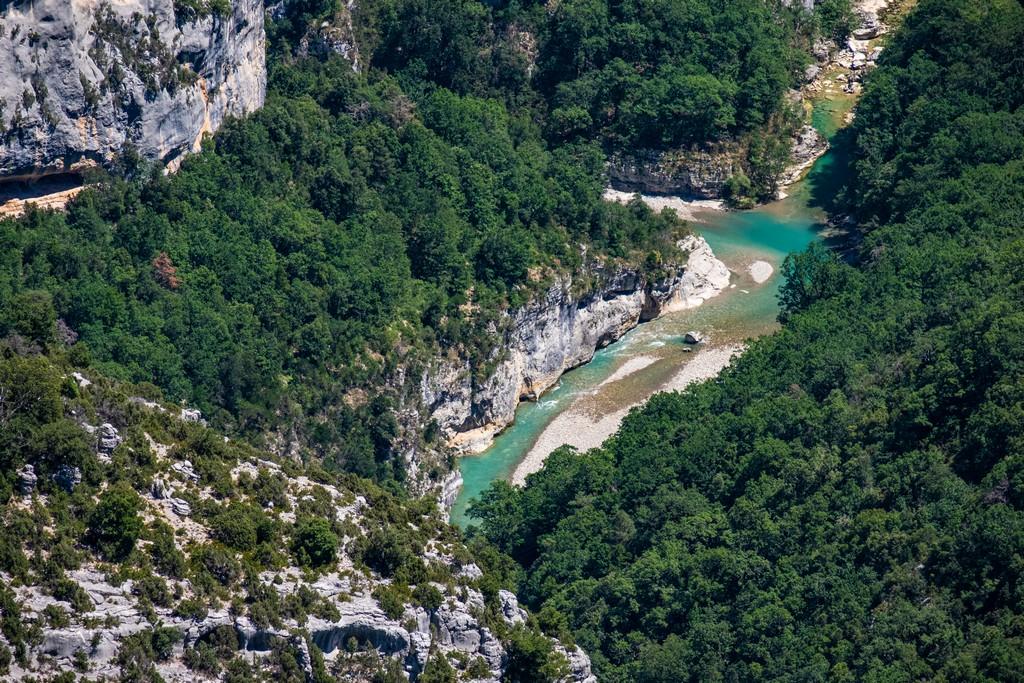 vista del fiume dsll'alto