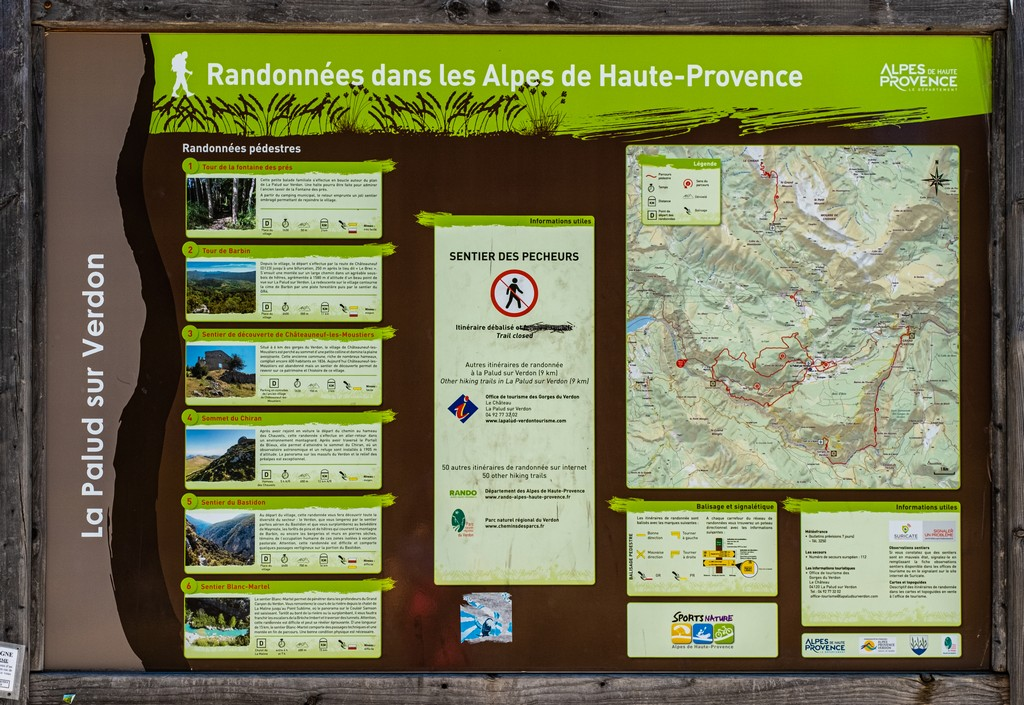 cartello per trekking
