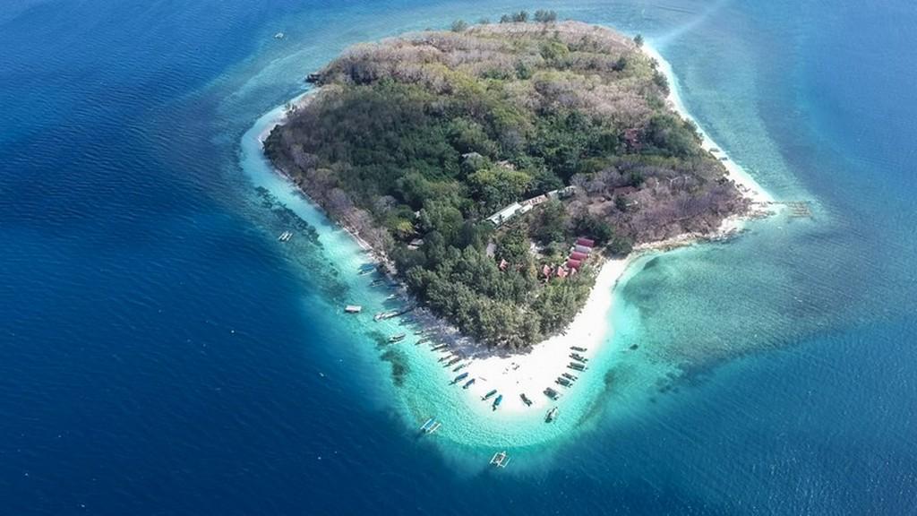 Come visitare le Secret Gili di Lombok vista di isola dall'alto
