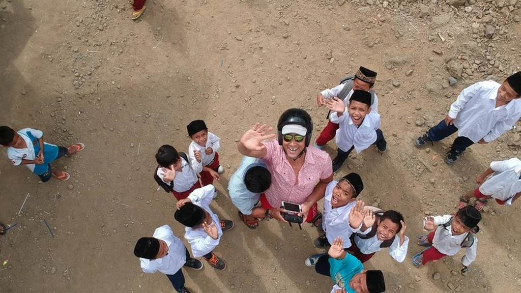 bambini dall'alto